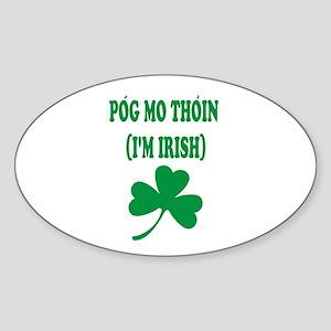I'm Irish Gaelic Oval Sticker