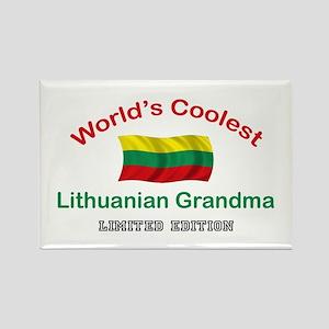 Coolest Lithuanian Grandma Rectangle Magnet