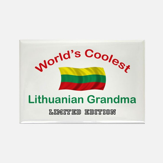 Coolest Lithuanian Grandma Rectangle Magnet