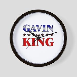 GAVIN for king Wall Clock