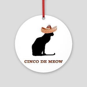 Cinco de Meow Ornament (Round)