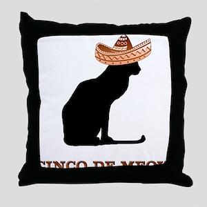 Cinco de Meow Throw Pillow