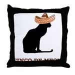 Cinco de Meow Throw Pillow