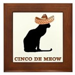 Cinco de Meow Framed Tile