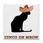 Cinco de Meow Tile Coaster