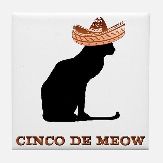 Cinco de Meow Tile Coaster