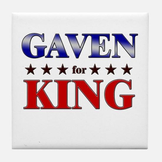 GAVEN for king Tile Coaster