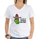 Funny Tequila Women's V-Neck T-Shirt