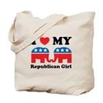 I Heart My Republican Girl Tote Bag