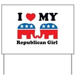 I Heart My Republican Girl Yard Sign