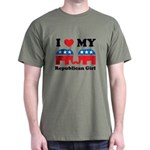 I Heart My Republican Girl Dark T-Shirt