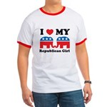 I Heart My Republican Girl Ringer T