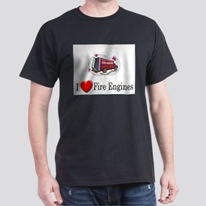 I Love Fire Engines Dark T-Shirt