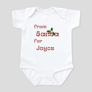 From Santa For Joyce Infant Bodysuit