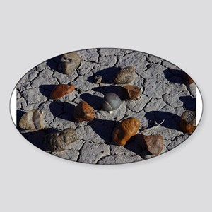 Petrified Wood Oval Sticker