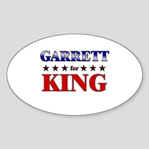 GARRETT for king Oval Sticker