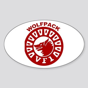 VF 1 Wolfpack Oval Sticker