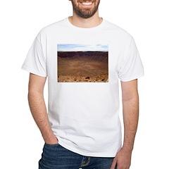 Barringer Meteorite Crater White T-Shirt