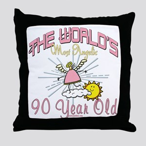 Angelic At 90 Throw Pillow