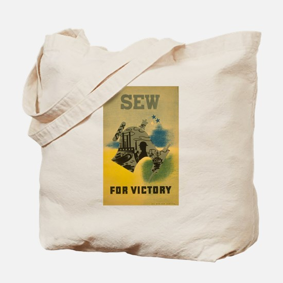 Sew For Victory - War Poster Tote Bag