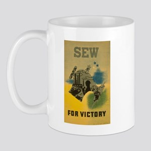 Sew For Victory - War Poster Mug