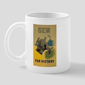 Sew For Victory - War Poster Mug