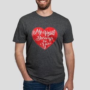 My Heart Belongs to You - Distressed design T-Shir
