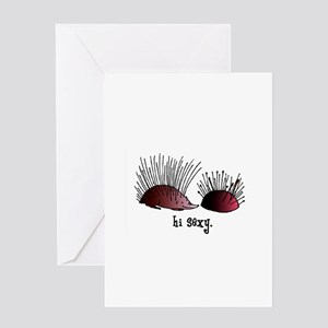 Sewing Pincushion - Hi Sexy Greeting Card