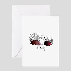 Sewing Pincushion - Hi Sexy Greeting Card