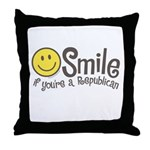 Smile if youre a Republican Throw Pillow