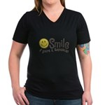 Smile if youre a Republican Women's V-Neck Dark T-