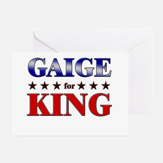 GAIGE for king Greeting Card