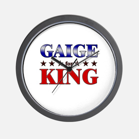 GAIGE for king Wall Clock