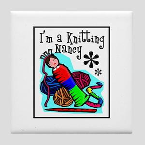 I'm a Knitting Nancy Tile Coaster