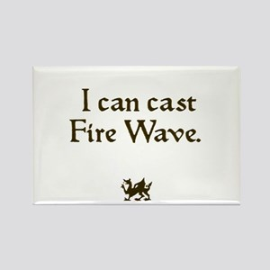 i can cast fire wave Rectangle Magnet