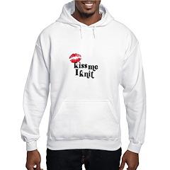 Kiss Me I Knit Hoodie