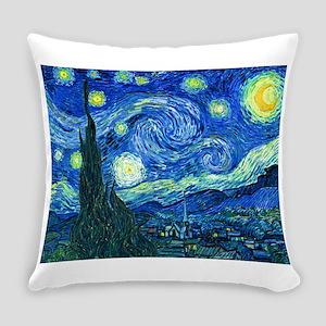 van gogh starry night Everyday Pillow