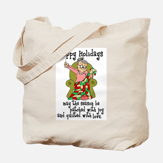 Happy Holidays - Quilter Tote Bag