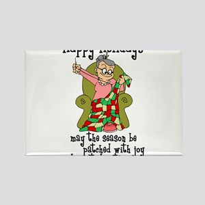 Happy Holidays - Quilter Rectangle Magnet