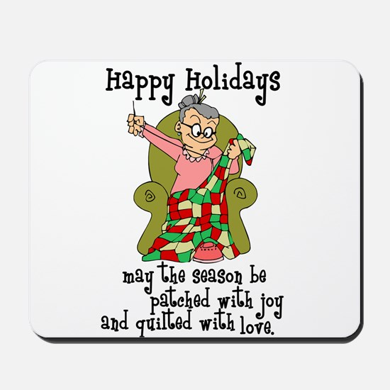 Happy Holidays - Quilter Mousepad