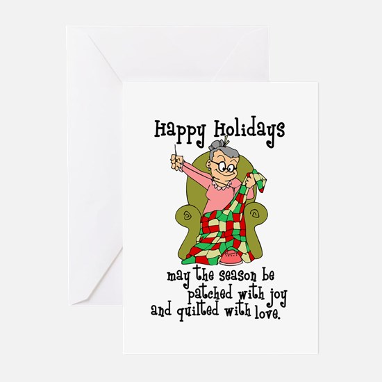Happy Holidays - Quilter Greeting Cards (Pk of 20)