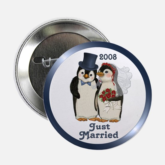 "Just Married 2008 2.25"" Button"