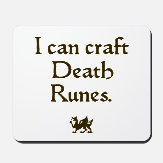 i can craft death runes Mousepad