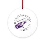 Hurricane Gumbo Ornament (Round)