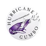 """Hurricane Gumbo 3.5"""" Button"""