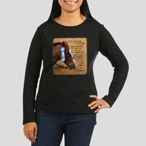 All For A Ribbon Horse Women's Long Sleeve Dark T-