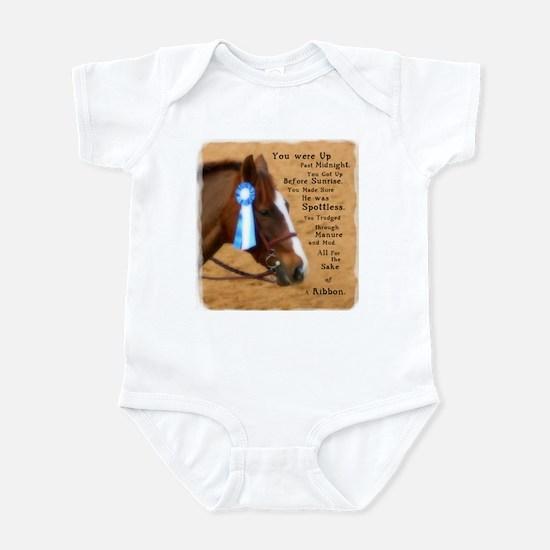 All For A Ribbon Horse Infant Bodysuit