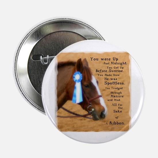 "All For A Ribbon Horse 2.25"" Button"