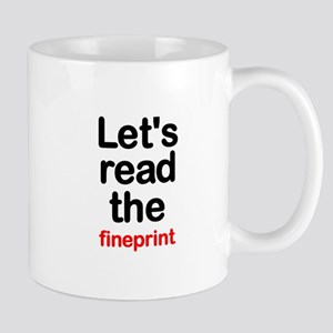 Fineprint Mug