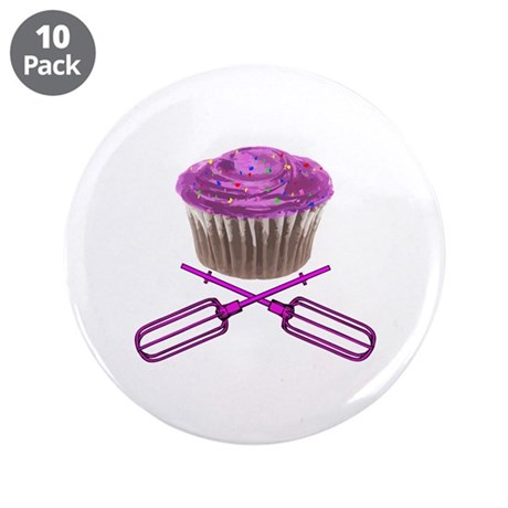 """Cupcake and Crossbeaters 3.5"""" Button (10 pack)"""